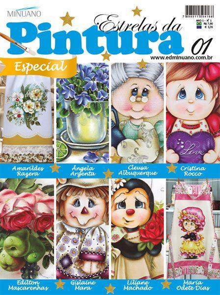 Artesanato - Pintura : ESTRELAS DA PINTURA ESP 001 - Editora Minuano