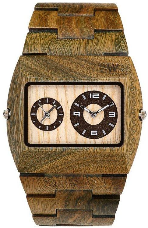 Wewood Uhr Holzuhr Herren Jupiter Army Khaki Armbanduhr WW02002 9995 n    Batterie  2 x SR626W