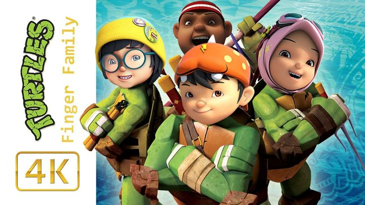 BoBoiBoy Galaxy Transforms Into Teenage Mutant Ninja Turtles Finger Fami...