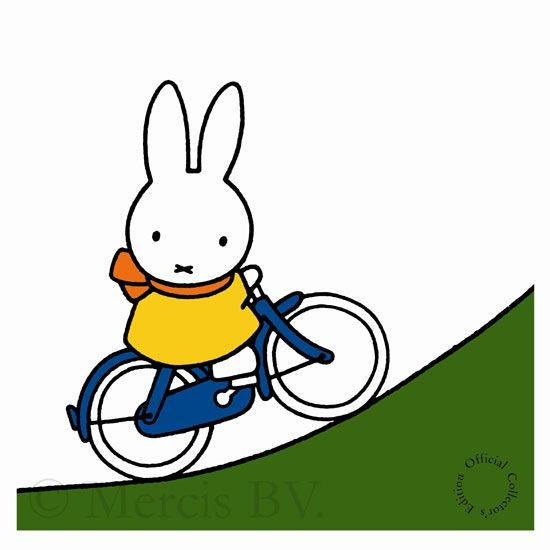 Miffy biking away!