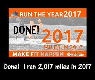 Runderdog: Runleashed and Runstoppable: Done!  I ran 2,017 miles in 2017