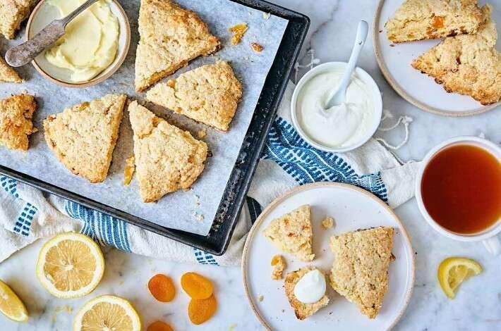 Buttermilk Lemon Apricot Scones Recipe In 2020 Scones Easy Apricot Scones Recipe Baking