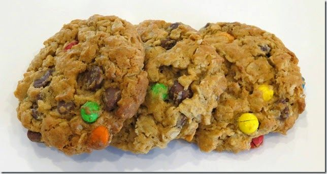 Ann Romney's Peanut Butter Oat M&M Cookies at Baking and Boys!