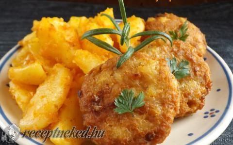 Krumplis csirketallérok recept fotóval