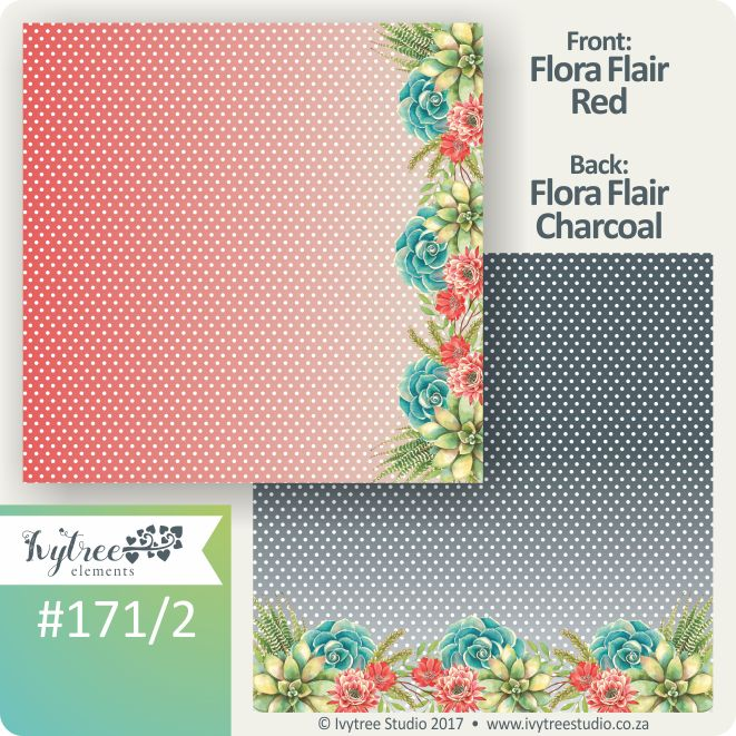 171 Seize the Day Collection - Ivytree Studio Lovely little polka dots in bold colours with succulent floras. www.ivytree.eshop.co.za These can be used as twin pages for any layout.