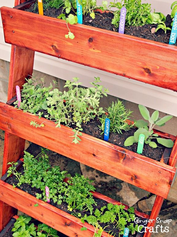 diy herb garden could also use containers inside the troughs to avoid stain toxicity