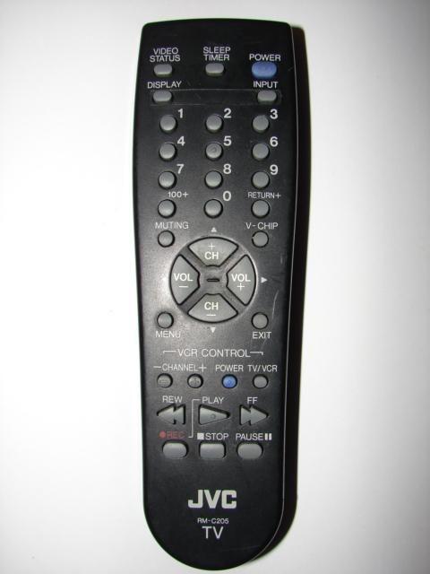 RM-C205 JVC TV VCR Remote Control 51 200602C