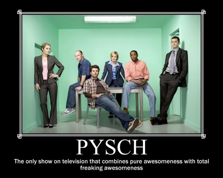 Okay, so I'm choosing to ignore the fact that they spelled 'Psych' wrong because I really wanted to pin it :)