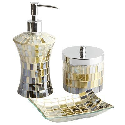 1000 images about bathroom accessories on pinterest for Purple mosaic bathroom accessories