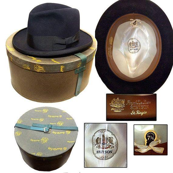 Vintage Stetson Homburg With Box / Gangster Hat / Rockabilly
