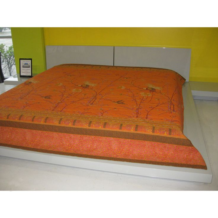 Bassetti Granfoulard Wildlife Full Queen Duvet Cover Asian Orange Birds Nature #Bassetti #Asian