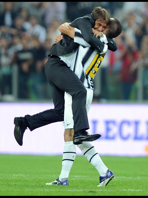 Antonio Conte and Leonardo Bonucci
