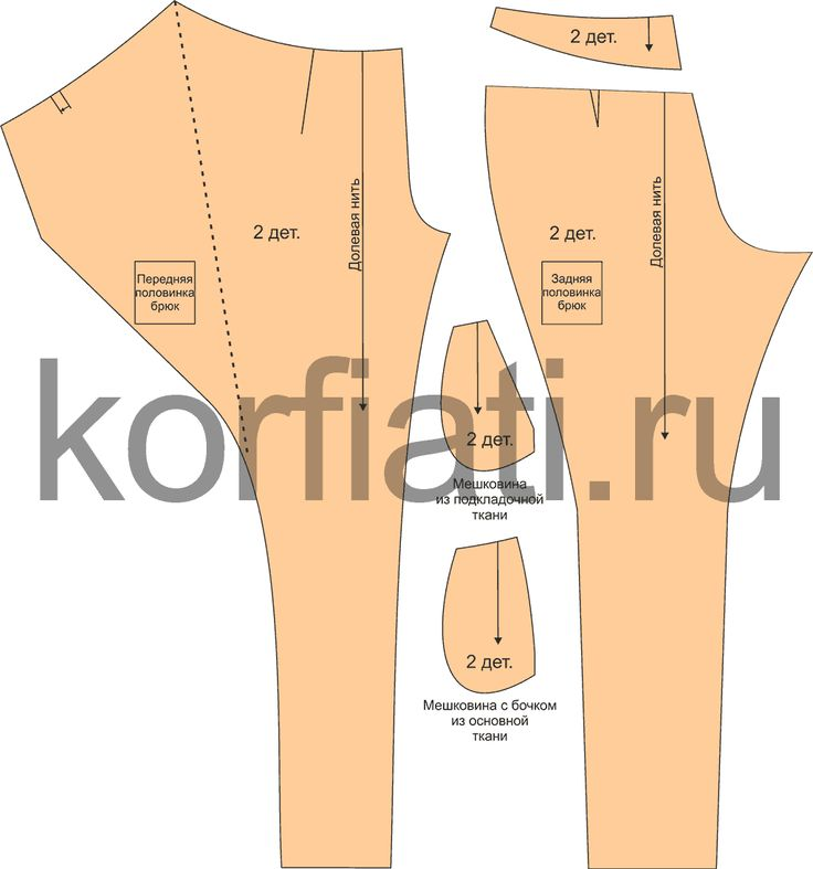 Pantaloni con piegone incrociato davanti /06 Rok celana