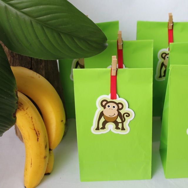 Monkey Paper Party Bags
