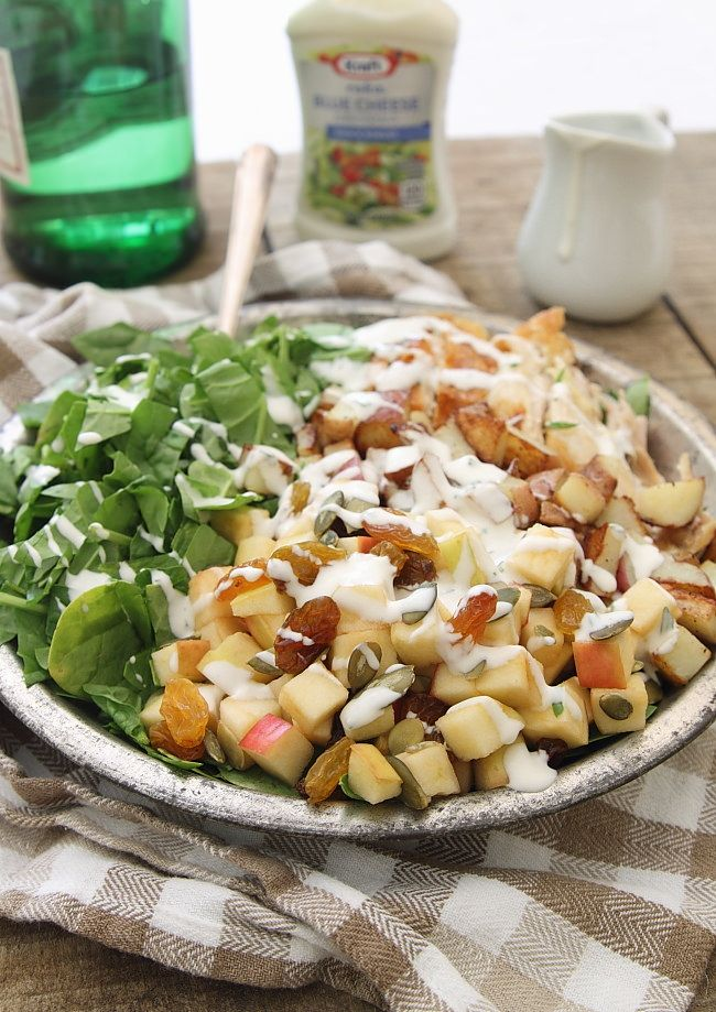 Appetizing salad - Blue cheese chicken potato and apple salad