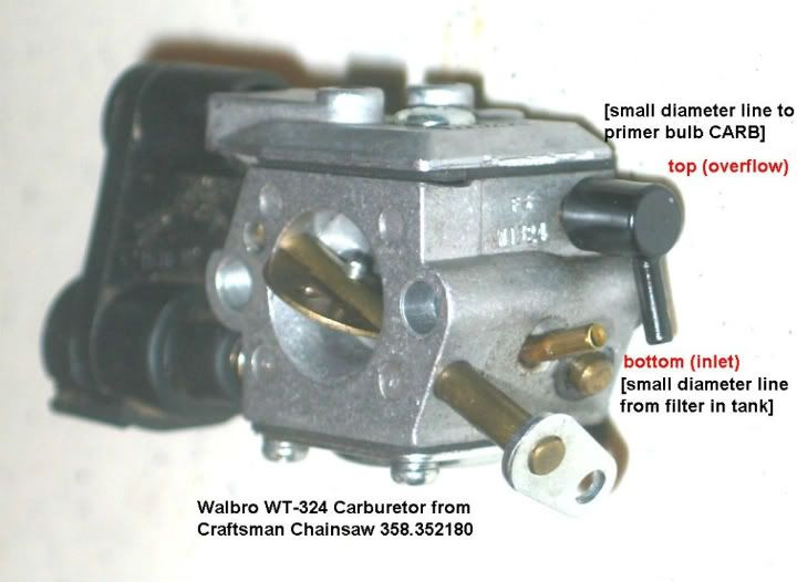 Craftsman Chainsaw Carburetor Diagram Chevy Nova Wiring Diagrams Need Some Help Putting In New Fuel Lines On My (358.352180). All The Old ...