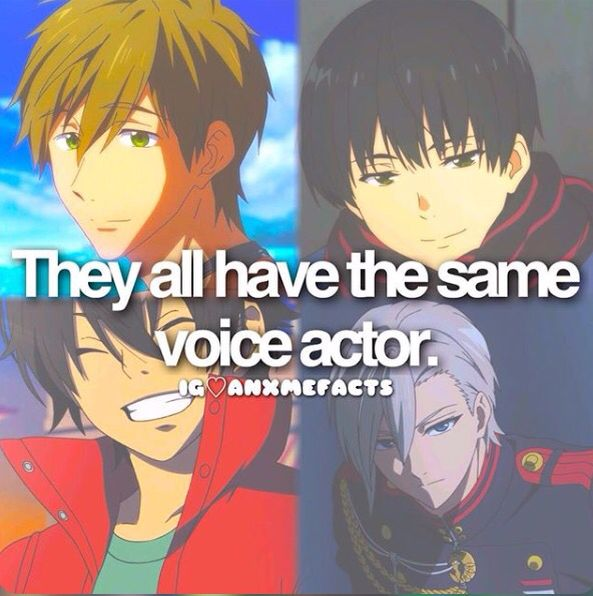 Anime facts seiyuu i wanna meet this guy!! Wuuuuut that guy at the bottom left looks familiar and he shares a voice actor with Makoto?!