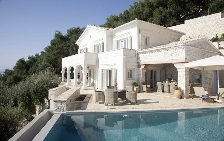 The Didimi Estate, Kaminaki & Agni - Sleeps up to 12. A supremely comfortable choice for two families or a group of friends, this luxury villa in Corfu comprises two very chic houses, offers excellent service and commands mesmerising sea views.