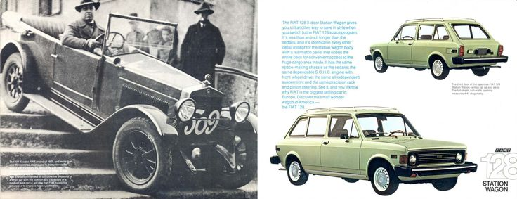 FIAT 509 (on the left) and FIAT 128 (on the right)