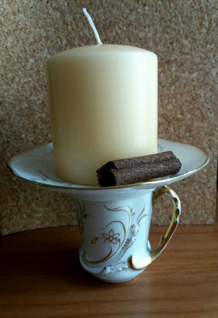 tea cup and candle