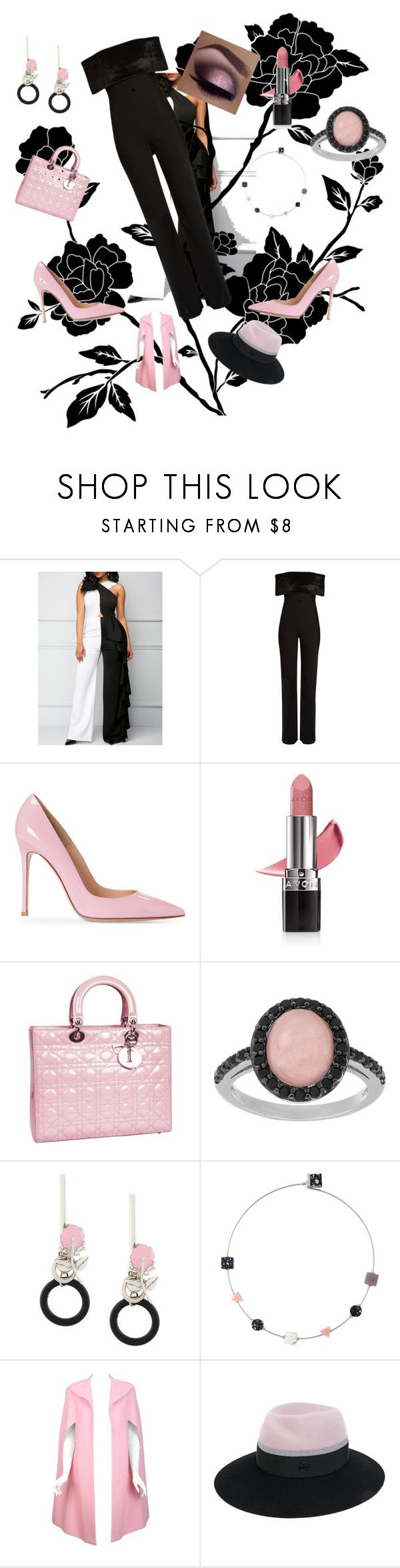 """""""Jumpsuit Jazz #4"""" by sinmrn ❤ liked on Polyvore featuring Galvan, Avon, Christian Dior, Sterling Essentials, Marni, Pauline Trigère and Maison Michel"""