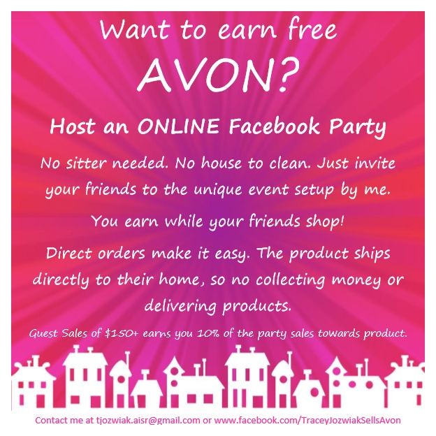 Make money while your friends shop. Now booking Avon ...
