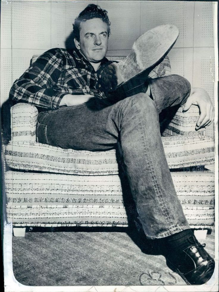 1957 Actor James Arness of TVs Gunsmoke in His Big Shoes Wire Photo | eBay
