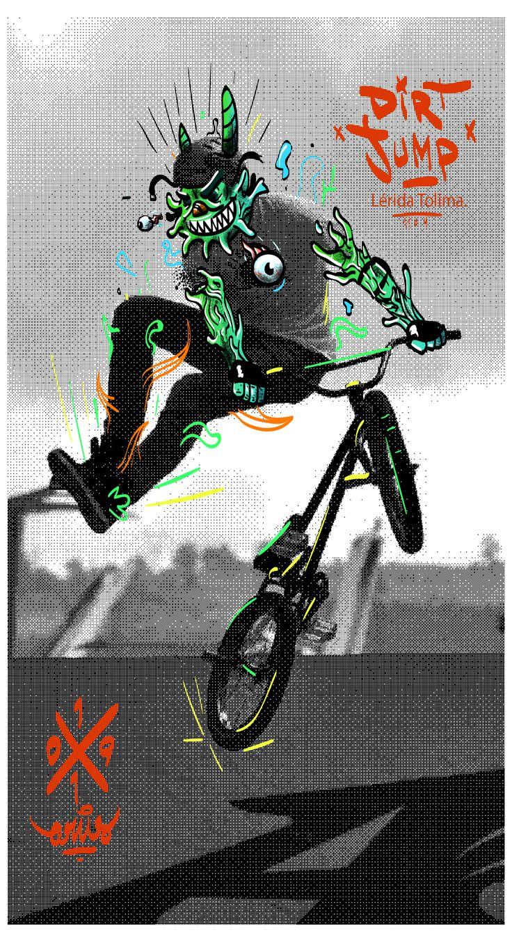 En Lérida- Tolima cada año se viene realizando un evento de dirt jump, donde jóvenes en sus bicicletas saltan módulos de tierra y realizan trucos en el aire, esa podría ser una sencilla explicación…