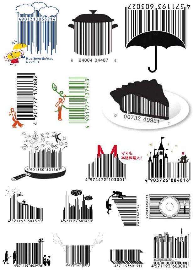 Be creative! Unusual barcode designs