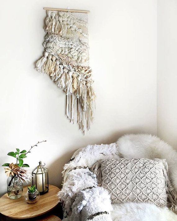 Tassle and Twine Woven Wall Hanging Tapestry by CrossingThreadsAUS
