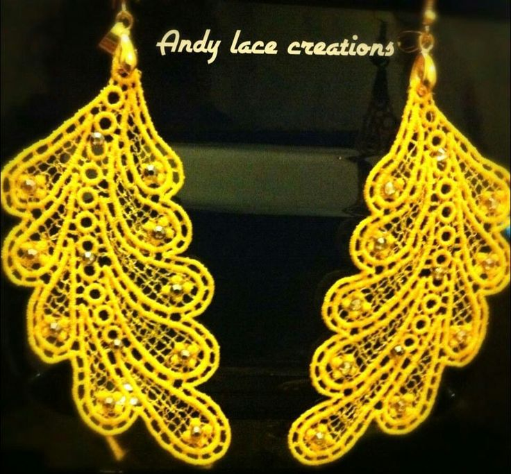 orecchini in pizzo andy lace creations