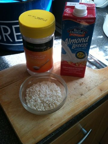 Almond milk rice pudding (slimming world )