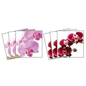Dekorace - Nálepky na kachličky - Orchidej 15 x 15