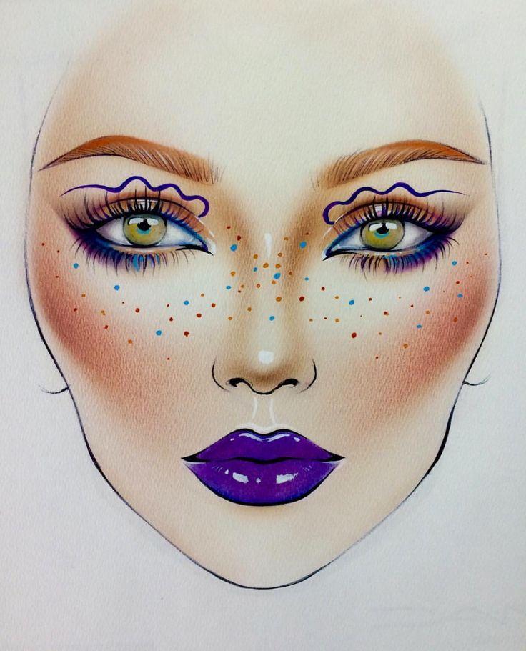 рисунки макияжа карандашом на бумаге для начинающих стереотипам