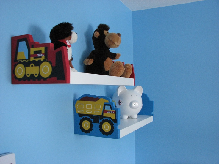 18 best little boys room images on pinterest bedroom for Boys construction bedroom ideas