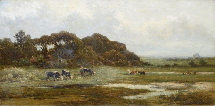 Euphrosine Beernaert (1831-1901) Titel: Landschap met koeien - Artiquair
