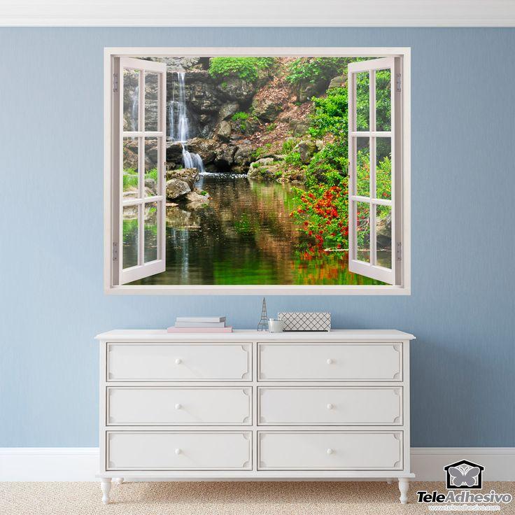 Adesivi Murali Lago e cascata