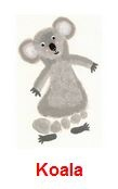 Koala Footprint Craft for Children