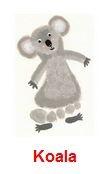 Koala Footprint Craft for Children