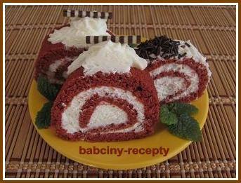 Rolády Red Velvet   Babčiny recepty