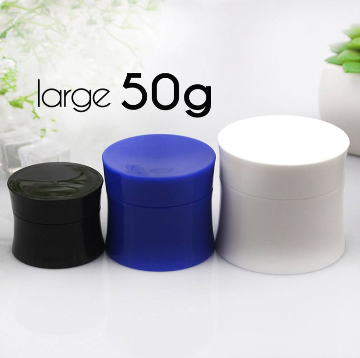 50 pcs (50g) Plastic Jar, Pot, Bottle with Lid & Disc Liner - Skincare Face Cream, SPA Bath, Food Packaging