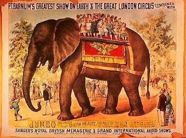 """""""Jumbo"""" Vintage Circus Poster"""