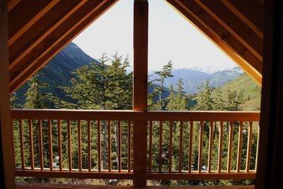 Hike in to a U.S. Forest Service cabin in Alaska