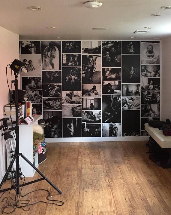 STUDIO ACCENT WALL | Custom Statement Photo Wallpaper | Repositionable | Washable | Removable | Self