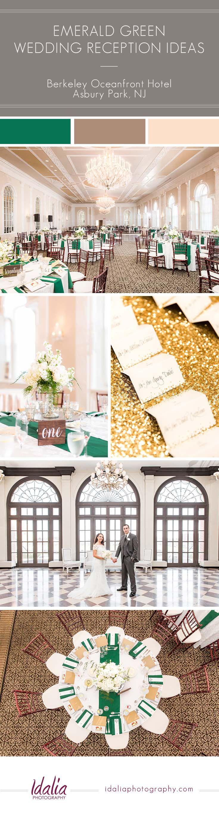 wedding venues asbury park nj%0A Berkeley Oceanfront Hotel Wedding Emerald Reception Ideas   Photo by Idalia  Photography