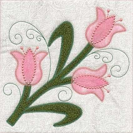 Applique ITH Quilt Blocks Flowers