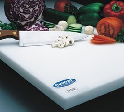 """Notrax T46S2018WH Cutting Board, Anti-Microbial Rubber Compound, 18 x 24 x 1/2"""""""