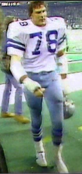 Defensive tackle JOHN DUTTON (78) walks off the field at Veterans Stadium in Philadelphia, PA after the Cowboys defeat the Eagles, 17-14--November 1, 1981
