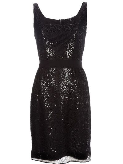 ELIE TAHARI - Sleeveless Sequin Dress