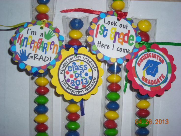12 Kindergarten Graduation Candy Treat Bag by JustTheCuteStuff